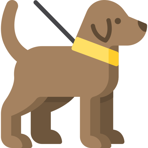dog with lead icon